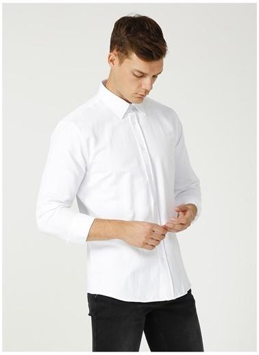 Fabrika Comfort Fabrika Comfort Gömlek Yaka Armürlü Beyaz Gömlek Beyaz